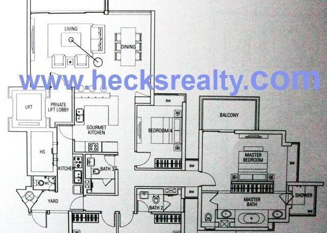 Floorplan 4 BR