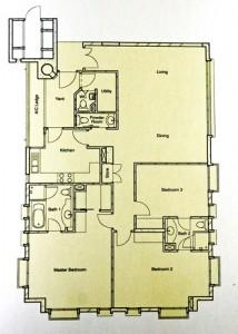 Balmoral Residences 3 bedroom Floorplan
