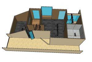 Aspen Loft upper floor 3D