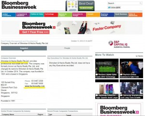 Bloomberg News Hecks Realty