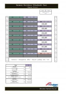 Hamony Residence Nihonbashi EAST prices for Rental Guarantee