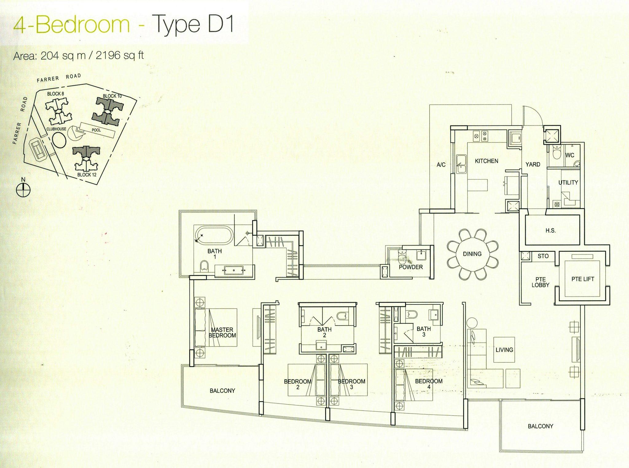 waterfall gardens floorplan | Shinoken & Hecks Pte Ltd
