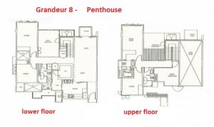 Grandeur 8 - The Penthouse Floor Plan