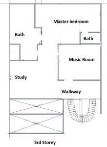Floorplan 3rd storey