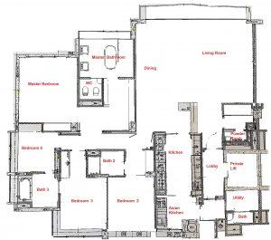 Floorplan Grange Residences 4 Bedroom