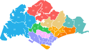 District Map Singapore