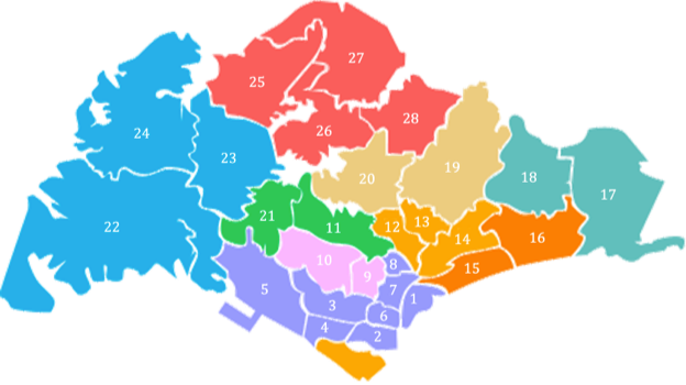 District Map Singapore