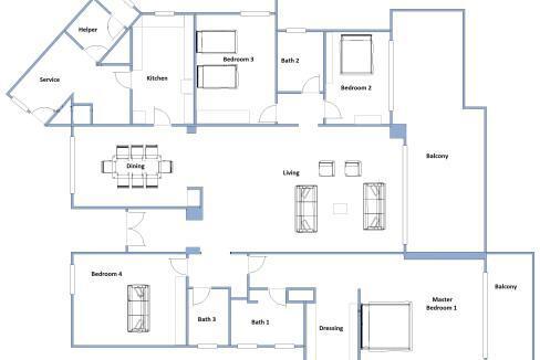 FLOORPLAN ARCADIA GARDENS 4 BEDROOM SALE